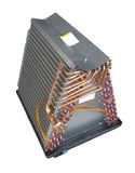 Air Conditioner Evaporator Coil Stock Photo