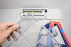 Air conditioner filter stock photo