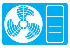 Air conditioner icon Stock Image
