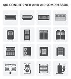 Air conditioner icon Stock Images