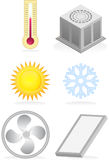 Air Conditioner Icons Stock Photo