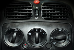 Air conditioner. Inside air conditioner unit in the car Royalty Free Stock Photos
