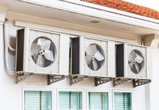 Air conditioner installation Stock Photography