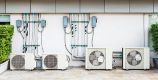 Air conditioner installation Royalty Free Stock Photography
