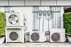 Air conditioner installation Stock Image
