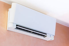 Air conditioner installed on the wall Stock Photos