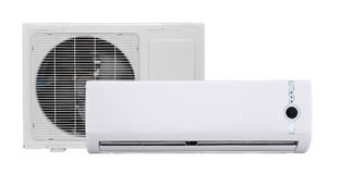 Air conditioner. Isolated on white Stock Photo