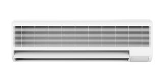 Air Conditioner Isolated. On white background. 3D render Stock Photo