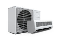 Air Conditioner Isolated Stock Image