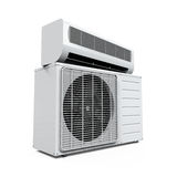 Air Conditioner Isolated. On white background. 3D render Royalty Free Stock Photos