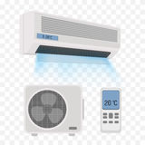 Air conditioner isolated Stock Photos