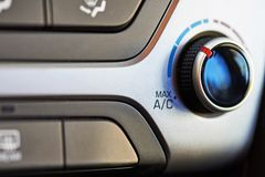 Air conditioner knob. In modern car interior Stock Photography