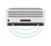 air conditioner machine design Stock Photo