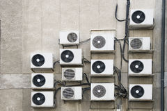 Air conditioner machines on wall Stock Photography
