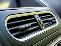 Air conditioner. In modern car Royalty Free Stock Image