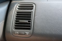 Air Conditioner in modern car interior detail Stock Images