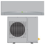 Air Conditioner. Modern compact air conditioner for office and residential space. Vector illustration royalty free illustration