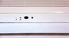 Air conditioner operating stock footage