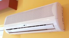 Air conditioner operating stock video footage