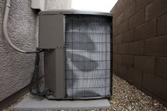 Air Conditioner Outdoor Unit in Winter Royalty Free Stock Image