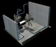 air conditioner parts stock image