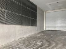 Air conditioner passage outside the mall. At thailand Royalty Free Stock Photography