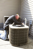 Air Conditioner Repairman Stock Photography