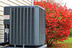 Air Conditioner. Residential Air Conditioner outdoor unit Royalty Free Stock Photos