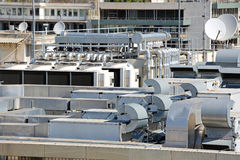 Air Conditioner Rooftop Stock Photo