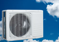 Air conditioner on sky and clouds Stock Photography