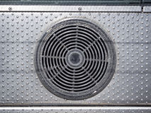 Air conditioner system with dirty condition. Cleaning service Royalty Free Stock Images