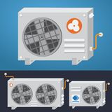 Air conditioner system. Vector illustration. Royalty Free Stock Photography