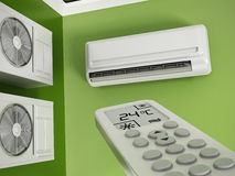 Air conditioner system on the wall Stock Photography