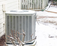 Air Conditioner Unit in the Snow Stock Images
