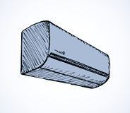 Air conditioner. Vector sketch Royalty Free Stock Photography