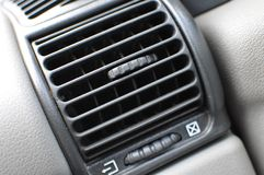Air conditioner vent grill in a modern car Stock Photography