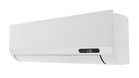 Air conditioner. Wall unit air conditioner on a white background Royalty Free Stock Image