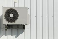 Air conditioner on a wall Stock Photography