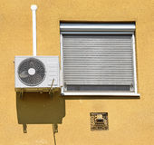 Air conditioner on the wall Stock Photos