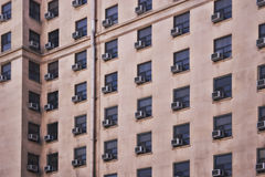Air conditioners. Building in Los Angeles with a plethora of air conditioners Stock Image