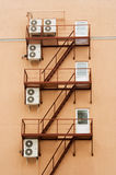 Air conditioners mounted on the walls Stock Photo