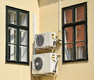 Air conditioners on the wall Royalty Free Stock Photography