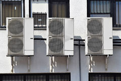 Air conditioners on the wall Royalty Free Stock Photos