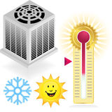 Air Conditiong Icon Set Royalty Free Stock Images