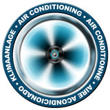 Air conditioning. Symbol air conditioning in 4 languages : English, French, Spanish, German Stock Images