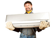 Air conditioning adjuster Royalty Free Stock Image