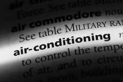 Air-conditioning. Word in a dictionary.  concept stock photos