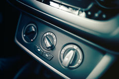 air conditioning and car ventilation system for passengers, design details of modern car Stock Image