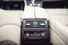 Air conditioning and car ventilation system for passengers, design details of modern car Royalty Free Stock Images