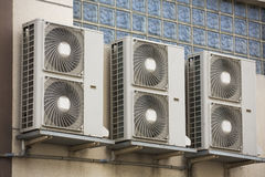 Air conditioning compressor. Air conditioning royalty free stock image